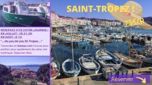 Excursion à St-Tropez, traversée en bateau